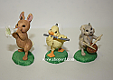 Hallmark 1996 Strike Up the Band Spring Set of 3 Spring Ornament QEO8141 Damaged Box
