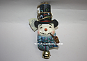 Jim Shore Snowman with Dangle Bell Hanging Ornament 4017611