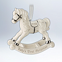 Hallmark 2012 Babys First Christmas Ornament Rocking Horse QXG4624