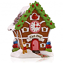 Hallmark 2015 Clock Shop Ornament 10th and Final In the Noelville Series Gingerbread QX9167