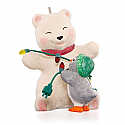 Hallmark 2015 Wrapped Up In Friendship Ornament 15th In The Snowball and Tuxedo Series QX9157