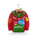 Hallmark 2013 Holiday Sweater Ornament QXG1585