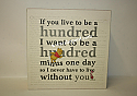 Hallmark Winnie The Pooh If You Live To Be A Hundred Sentiment Hundred Acre Wood HUN2011