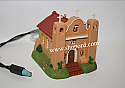 Hallmark 2000 Adobe Church Ornament 3rd In The Candlelight Services Series QLX7334 Damaged Box