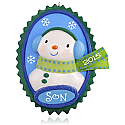 Hallmark 2015 Cool Son Snowman Ornament QGO1229