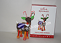 Hallmark 2016 Limited Quantity Santas Sweet Reindeer Ornament QXE3154 Damaged Box