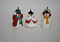 Hallmark 2005 See No Humbug Miniature Ornament set of 3 QXM8152 Box Slightly Bent