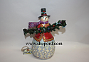 Jim Shore Trimmed With Good Tidings Evergreen Snowman Figurine 4027712