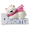 Hallmark 2016 Daughter Polar Bear Ornament QGO1084