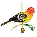 Hallmark 2015 Western Tanager Ornament 11th In The Beauty Of Birds Series QX9159 Damaged Box