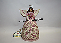 Jim Shore Hope Makes Anything Possible Pink Angel With Heart Figurine 4021701