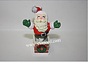 Hallmark 2001 Springing Santa Ornament QX8085 Damaged Box