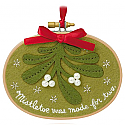 Hallmark 2015 Together Under The Mistletoe Ornament QGO1569