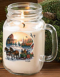 Terry Redlin Jar Candle- Pleasures of Winter