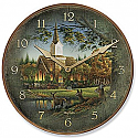 Terry Redlin Wall Clock- Sunday Morning