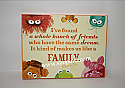 Hallmark Electric Mayhem Medium Plaque The Muppets I've Found A Whole Bunch Of Friends Like Family MUP5014