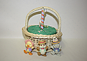 Hallmark 1993 Maypole Stroll set of 3 includes basket Spring Ornament QEO8395 Damaged Box