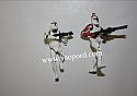 Hallmark 2003 Clone Troopers Miniature Ornament set of 2 Star Wars Attack of the Clones QXM5127