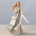 Enesco Foundations Leaving Home Angel Figurine with Bag and Key 4029281
