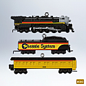 Hallmark 2012 Lionel Cheesie Steam Special Ornament Miniature set of 3 QXM9011