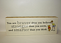 Hallmark Winnie The Pooh You are braver than you believe Sentiment with Christopher Robin Hundred Acre Wood HUN2009