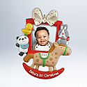 Hallmark 2012 Babys First Christmas Ornament photo holder QXG4604 Box Damaged