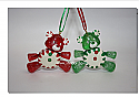 Hallmark 2006 Limited Quantity Peppermint Pals Ornament set of 2 QXE3263 Box Bent
