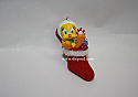 Hallmark 2005 Candy Cane Tweat Miniature Ornament Tweety Looney Tunes QXM8752