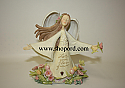Enesco Foundations Angel In Flowers Let Your Love Grow Figurine 4009070