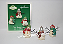 Hallmark 2003 The Snowmen Of Mitford Miniature Ornament set of 2 QXM4959