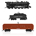 Hallmark 2015 Lionel 2148WS Deluxe Pullman Train Set Of 3 Miniature Ornament QXM8509