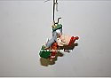 Hallmark 2000 Bugs Bunny And Elmer Fudd Miniature Ornament Looney Tunes QXM5934