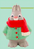 Hallmark 2015 Bundled Up Bunny Keepsake Ornament Club KOC LPR3347