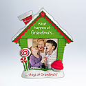 Hallmark 2012 What Happens at Grandmas Ornament photo holder QXG4824