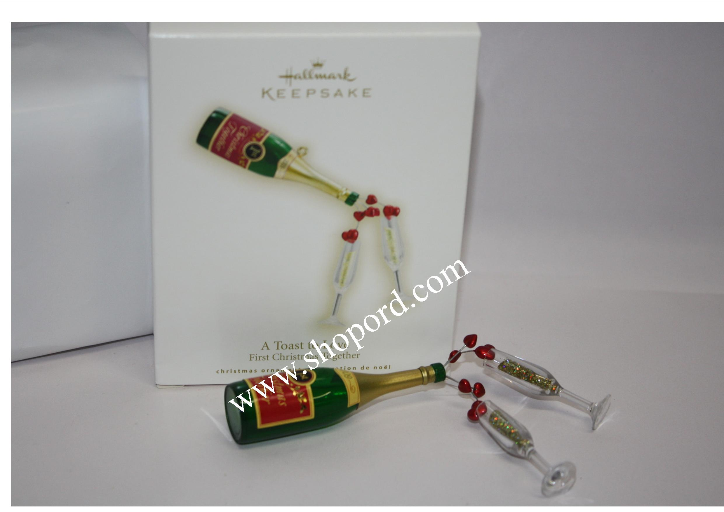 Hallmark 2009 A Toast to Love Ornament First Christmas Together QXG6082