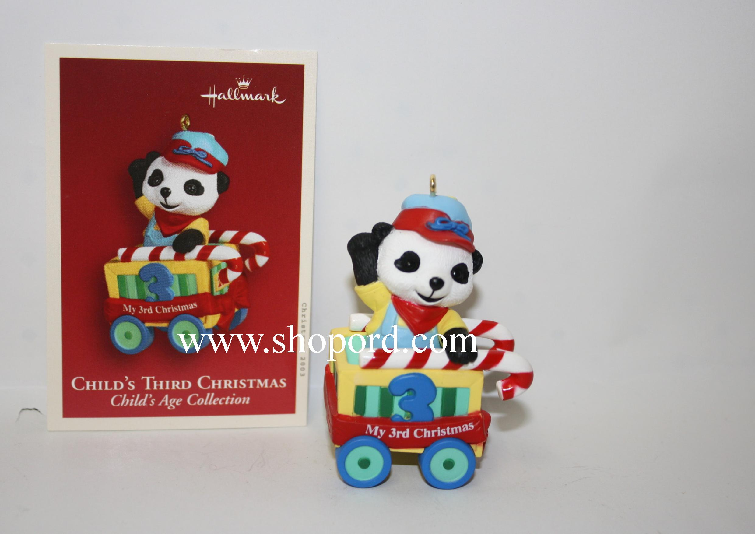 Hallmark 2003 Childs Third Christmas Ornament Childs Age Collection Train QXG8707