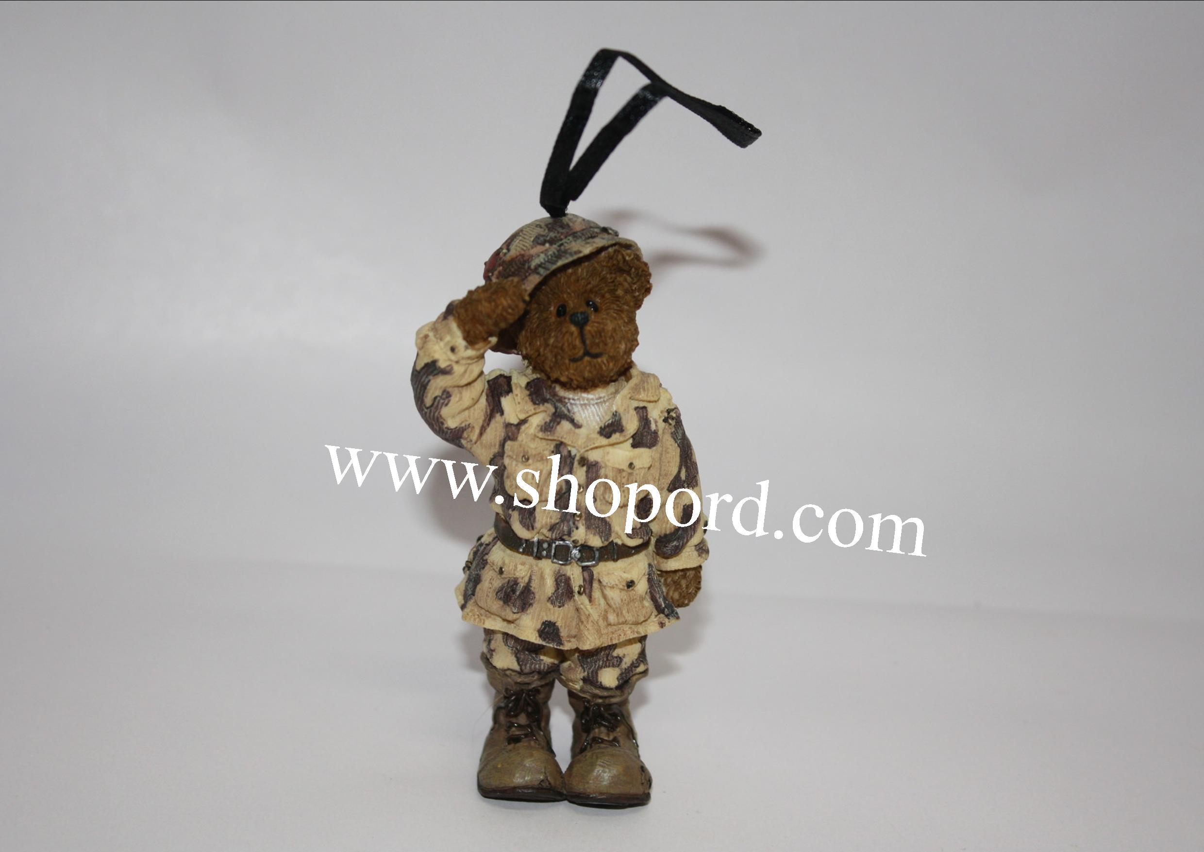 Boyds The Bearstone Collection - G.I. Bruin (Boyds 25th Anniversary) ornament #257065