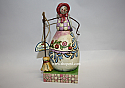 Jim Shore Not A Flake Out Of Place Small Snowman Woman with Broom Figurine 4010361