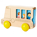 Hallmark Wood Bus Toy with Book
