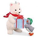 Hallmark 2016 Thats A Wrap Ornament 16th In The Snowball And Tuxedo Series QX9154