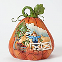 Jim Shore Harvest By Day Haunted by Night Two Sided Pumpkin Figurine 4037598