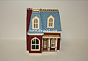 Hallmark 1999 House On Holly Lane Ornament 16th In The Nostalgic Houses And Shops Series QX6349 Damaged Box