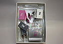 Hallmark 2005 Step Out In Style Barbie Ornament Set QXE2362 Box Bent