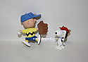 Hallmark 1999 Peanuts Batter Up Spring Ornament Set of 2 Charlie Brown and Snoopy QEO8389 Damaged Box
