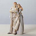 Enesco Foundations Couple with Baby New Family Figurine 4026912